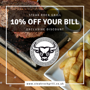 10% this July at Steak Rock Grill